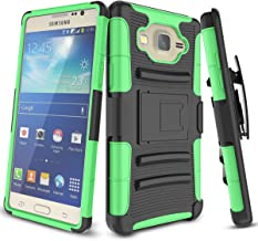Samsung Galaxy On5 Case, On 5 Case, TILL [Knight Armor] Heavy Duty Rugged Holster Resilient Armor [Belt Swivel Clip][Kickstand] Combo Case Cover Shell for Samsung Galaxy On5 G550 [Green]