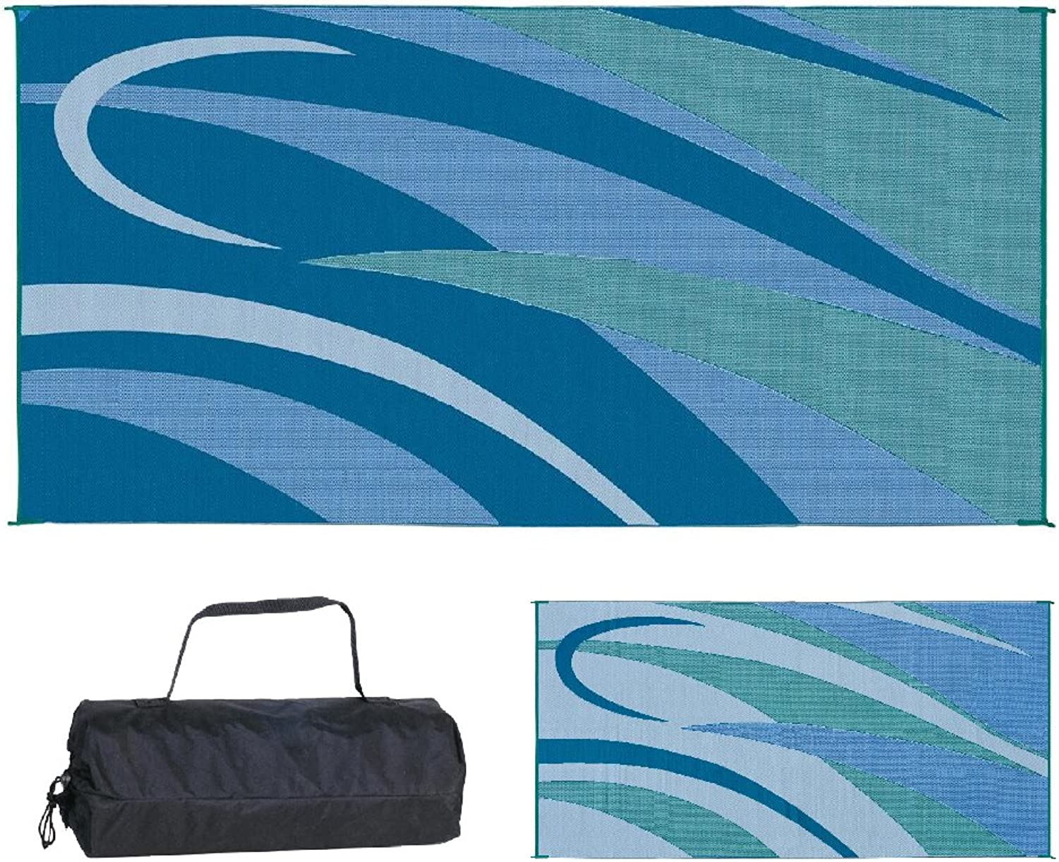 Ming's Mark GB3 bluee Green 8' x 16' Graphic Mat