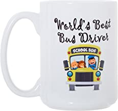 World's Best Bus Driver - 15oz Deluxe Double-Sided Coffee Tea Mug