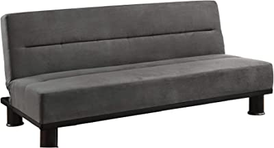 Amazon.com: Skyler Sofa Bed with Button Tufting Grey ...