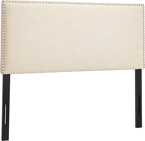 First Hill B 024 Upholstered Tufted Headboard Full Ivory