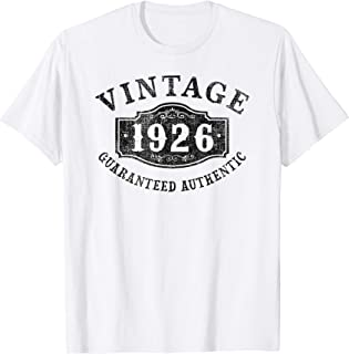 93 years old 1926 Authentic 93rd B-day Birthday Gift T-Shirt
