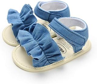 Sakuracan Infant Baby Girls Sandals Cute Summer Shoes Soft Sole Flat First Walker Shoes