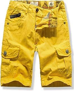 WIYOSHY Boys' Cargo Shorts Adjustable Waist Multi Pocket Outdoor Denim Shorts