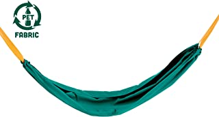 Hape Pocket Swing  Green Portable Hammock for Kids, Outdoor Children'S Swinging Chair, Easy Attach Mechanism for Ages 5+, 220 Lb Weight Capacity