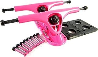 Paris V2 180mm Longboard Trucks Pink w/ 1/4