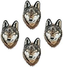 4pcs personalidad Super Cool DIY hierro en la ropa parches animales pegatinas pegatinas de gamuza de tigre leopardo lobo León tigre parches para camiseta para hombre Jeans ropa bolsas Wolf
