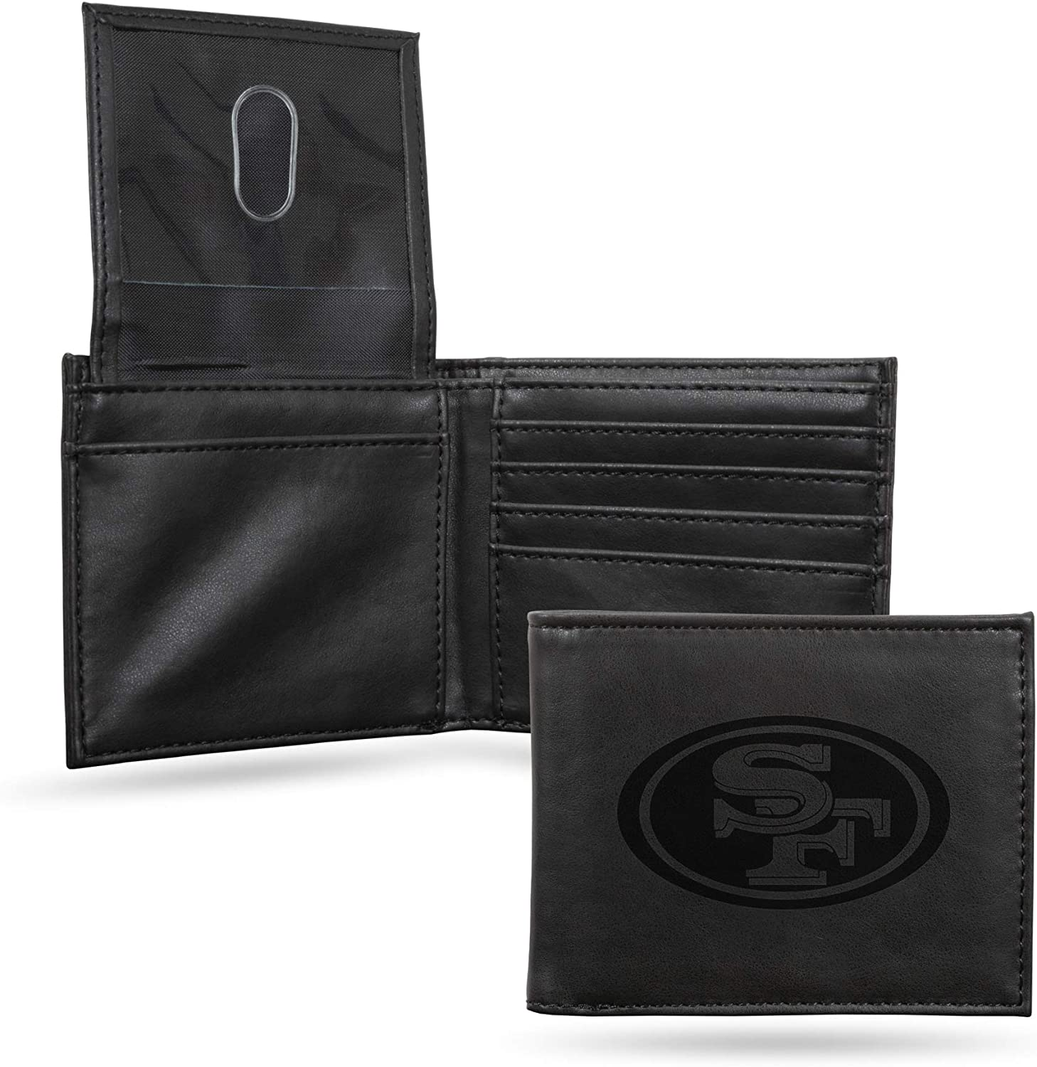 NFL Rico Industries Shipping included Laser Engraved San Billfold Francisc Wallet Product