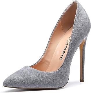 2192b173c29ce0 CASTAMERE Escarpins Femme Talon Fête Mariage Sexy Talon Haut Aiguille Bout  Pointu High Heels Chaussures Stilettos