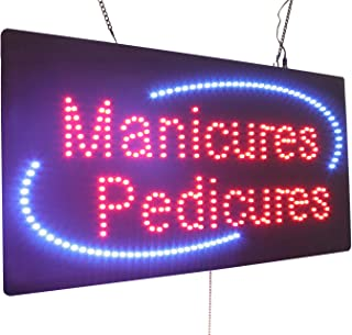 Manicures Pedicures Sign, Super Bright LED Open Sign, Store Sign, Business Sign, Window Sign