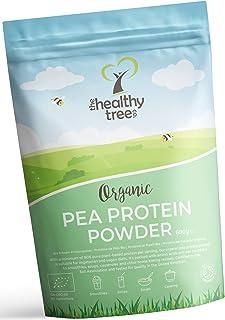 TheHealthyTree Company Proteína de Guisante Orgánico en Polvo - Alto contenido en aminoácidos y BCAA - Más de 80% de polvo de proteína vegana pura - 600g