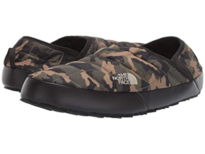 The North Face ThermoBalltm Traction Mule V (Burnt Olive Green Woodland Camo Print/TNF Black) Men