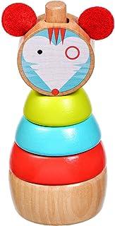 Lucy/&Leo Rompecabezas Laberinto de Cuentas Bead Maze Lion Empuja y Tire a lo Largo del Coche Educativo Primera Infancia Juguete de Madera para Baby Boy y Baby Girl