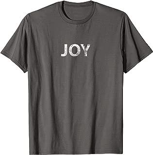 Joy - One Word T-shirt For Men Women Kids