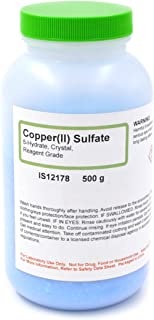 Reagent Grade Copper (II) Sulfate 5-Hydrate Crystals, 500g - The Curated Chemical Collection