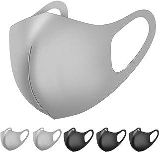マスク ウレタン 6枚セット 立体型 洗えるマスク 繰り返し使用可 男女兼用 花粉症 対策 予防 Naturali (ブラック&ライトグレー)