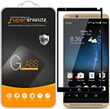 (2 Pack) Supershieldz for ZTE (Axon 7) Tempered Glass Screen Protector, (Full Screen Coverage) Anti Scratch, Bubble Free (Black)