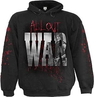 Spiral Mens - All Out War - Walking Dead Hoody Black