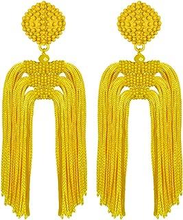 Best neon yellow tassel earrings Reviews