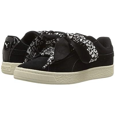 Puma Kids Suede Heart Athluxe PS (Little Kid) (Puma Black/Puma Silver/Whisper White) Girls Shoes