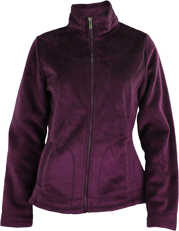 Weatherproof Womens Bonded Velboa Full Zip Polar Fleece Jacket - Color Options