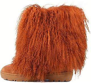 Freezy Warm Winter Boots for Women Girls, Faux Fur Moon...