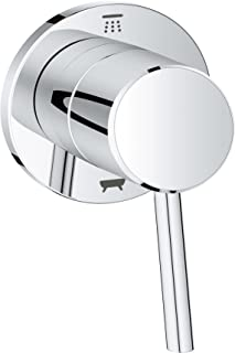 Grohe 29104001 Concetto 1-Handle Diverter Trim Kit in Starlight Chrome (Valve Sold Separately)