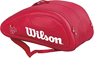 Wilson WRZ830712 Synthetic Federer DNA Collection Racquet Bag (Red)