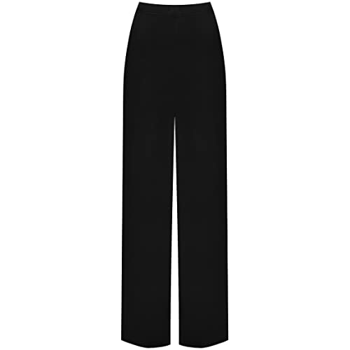 dc6cf0f54bac0 WearAll Plus Size Womens Plain Palazzo Wide Leg Flared Ladies Trousers Pants  - 16-26