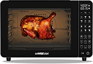 GoWISE USA 25-Quart Air Fryer Oven & Professional Dehydrator with 3 Heating Elements & Rotisserie