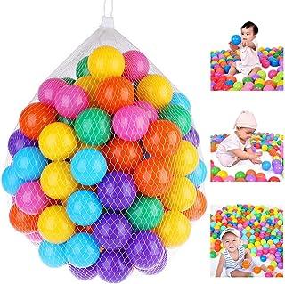 100 قطعة من كرة المحيطية البلاستيكية الناعمة 7 سم جودة آمنة للأطفال الصغار لعبة حفرة السباحة الملونة الكرة اللعب