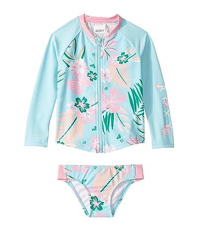 Roxy Kids Sunshine Roxy Long Sleeve Rashguard Set (Toddler/Little Kids/Big Kids) (Fresh Water Flat Day) Girl
