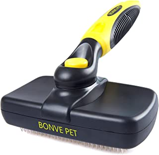 Bonve Pet LKGMS-001 Pet Grooming Brush - Pro Quality Self Cleaning Slicker Brushes for Dogs and Cats -Shedding Grooming Tools