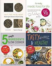 Salt fat acid heat [hardcover], medic food for life, 5 simple ingredients slow cooker, tasty and healthy 4 books collectio...