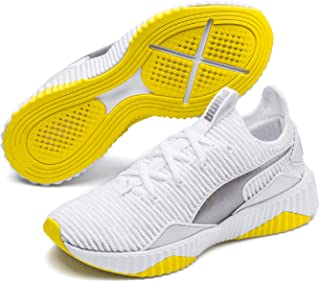 PUMA Women's Defy TZ WN's Sneaker, White-Blazing Yellow