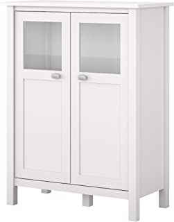 Bush Furniture BDS132WH-03 Storage Cabinet with Doors, Pure White