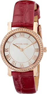 MICHAEL KORS Women's MK2708 Year-Round Analog-Digital Quartz Red Band Watch