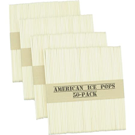 American Ice Pop Maker - Frozen Popsicle Mold Wooden Ice Cream Sticks (200 STICKS, Natural)