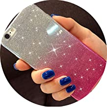 Lovely Girl Glitter Soft Silicone Case for Samsung Galaxy S8 S9 Plus A6 A8 2018 J2 Pro J8 J4 J6 S6 S7 Edge A3 A5 A7 2017 Cover,Pink,J4 2018 J400