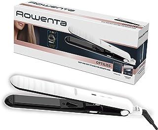 Rowenta Optiliss SF3210 Plancha de pelo con revestimiento cerámico para un pelo suave, 10 temperaturas hasta 230 º, rendimiento de alisado eficiente, calentamiento en 30 segundos, sistema de bloqueo,