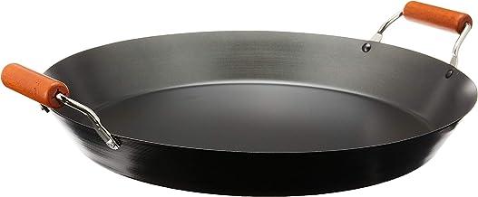 My Way FPA38 Non Stick Paella Pan, 38 cm Diameter,Black