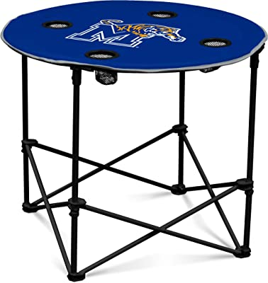 Memphis Tigers Collapsible Round Table with 4 Cup Holders and Carry Bag