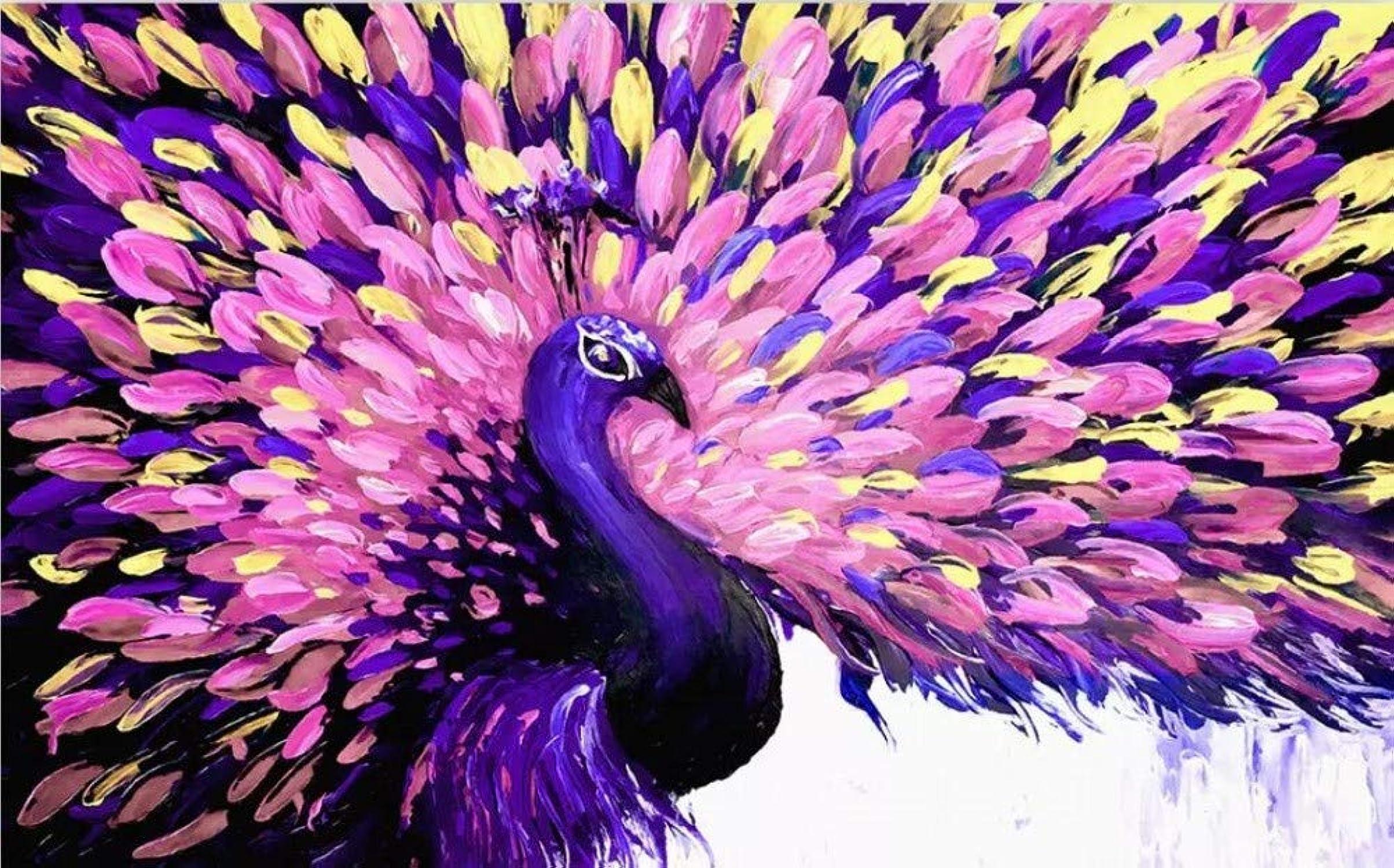descuento de ventas en línea HDOUBR Papel Tapiz fotográfico Personalizado Estilo de Pintura Mural Color Color Color del Pavo Real Arte Pintura al óleo Pintura Decorativa de la Parojo Papel de Parojo-a, 200x140 cm (78.7 por 55.1 pulg.)  autorización oficial