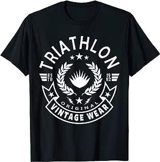 Retro Vintage Triathlon & Triathlete Clothing - Triathlon T-Shirt