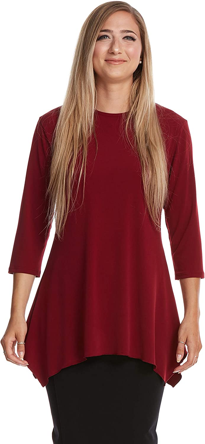 ESTEEZ Womens 3/4 Sleeve Loose Fitting Top