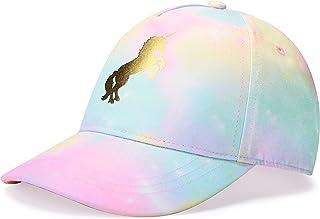 accsa Kids Trucker کلاه دختران کلاه بیس بال جوانان Cute Unicorn Toddler قابل تنظیم Snapback کلاه برای ورزش های تابستانی سفر مسافرتی کلاه