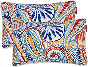 """Pcinfuns Outdoor Decorative Pillows with Insert Phoenix Throw Pillow Covers All Weather Patio Cushions 19"""" x 12"""" Set of 2"""