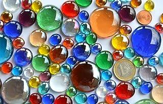 Pépites de verre multicolores 176 g en 3 différentestailles - 1-3cm - Environ 66 pierres mosaïques de décoration