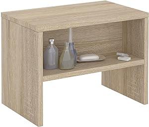 IDIMEX Table de Chevet Dion, Table de Nuit casier avec 1 Niche, en mélaminé décor chêne Sonoma