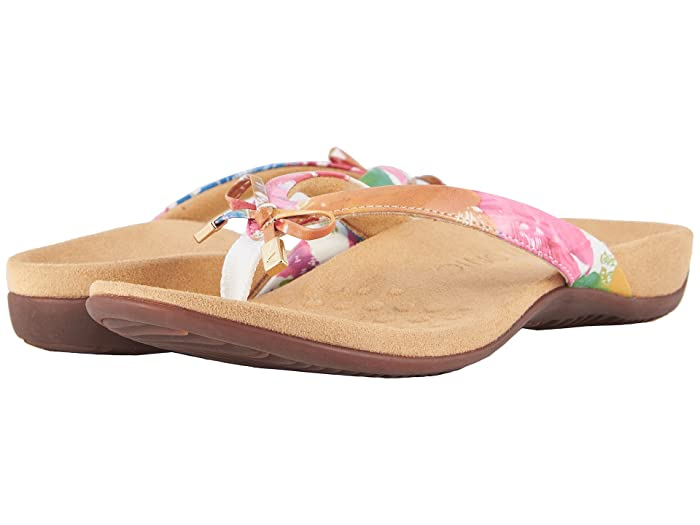 VIONIC  Bella II (White Floral) Womens Sandals